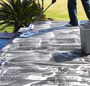 cleaning of composite decking