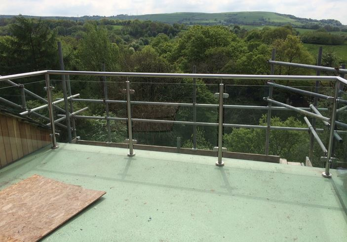 galvanised mild steel balustrades